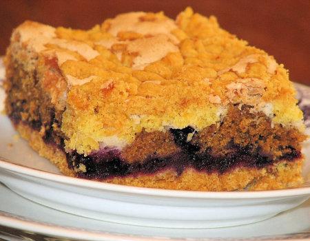 Bardzo kruche i aromatyczne ciasto z jagodami