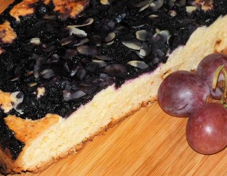 Bardzo szybkie ciasto z mrożonymi jagodami