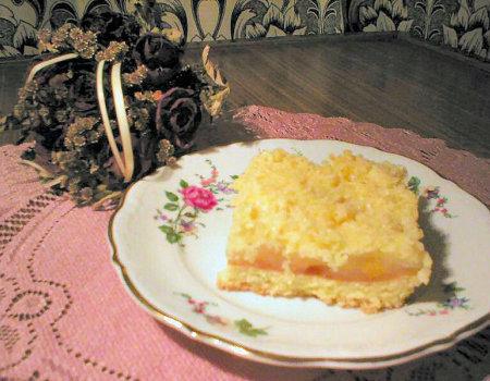 Ciasto brzoskwiniowe z kokosem