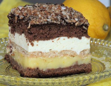 Ciasto cytrynowo-serowe - miękkie i orzeźwiające
