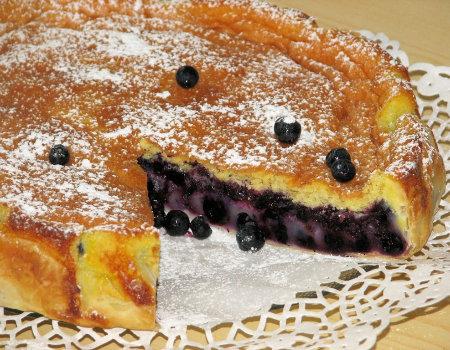 Ciasto francuskie z jagodami
