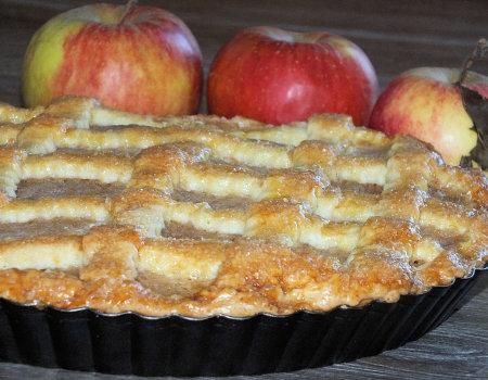 Ciasto jabłkowo-dyniowe w krucho-maślanym cieście