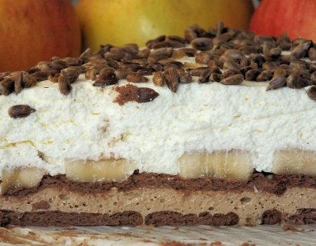 Ciasto kawowo-śmietankowe z bananem