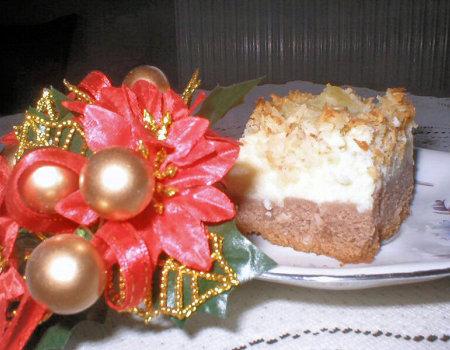 Ciasto serowe z ananasami
