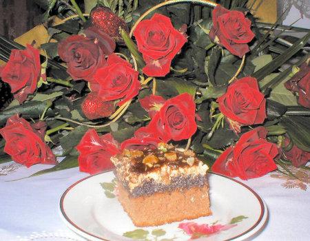 Ciasto z masą makowo-orzechową