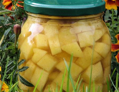 Cukinia na słodko - w zalewie cynamonowo-miodowej