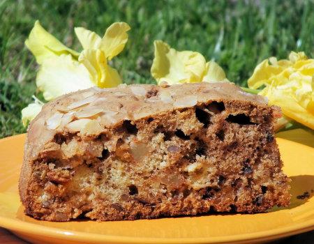 Cynamonowe ciasto z jabłkami i słonecznikiem