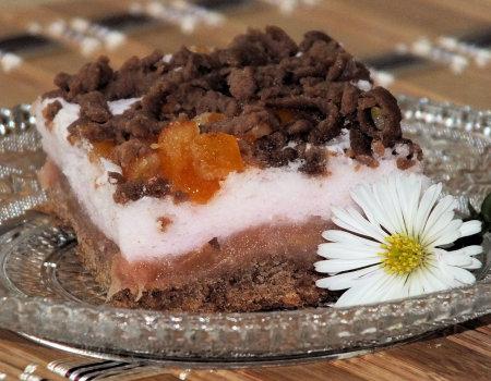 Kakaowa szarlotka z pomarańczowym akcentem