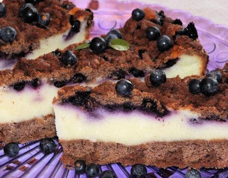 Kakaowe ciasto z jagodami