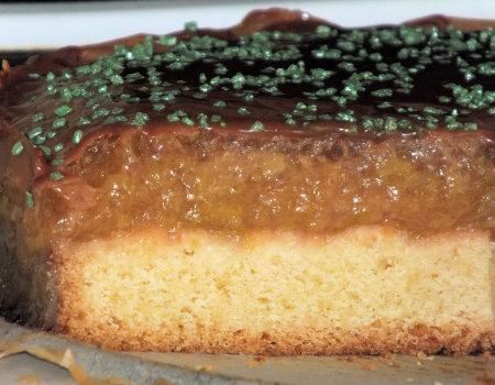 Kruche ciasto z rabarbarem, kisielem i galaretką
