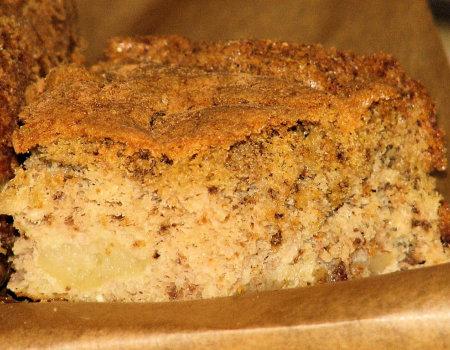 Kukurydziano-orzechowe ciasto z jabłkami - dla diabetyków