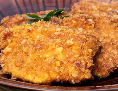 Kurczak w chrupiącej panierce z płatków kukurydzianych