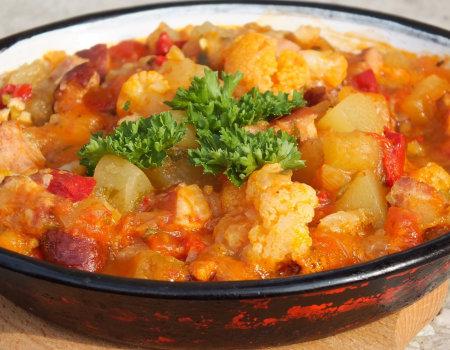 Leczo z pomidorami i kalafiorem
