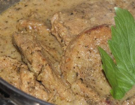 Łopatka wieprzowa w sosie curry