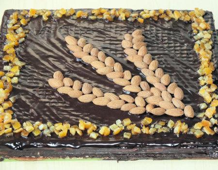 Mazurek kajmakowy na waflach