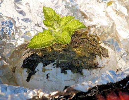 Miętowy camembert z grilla