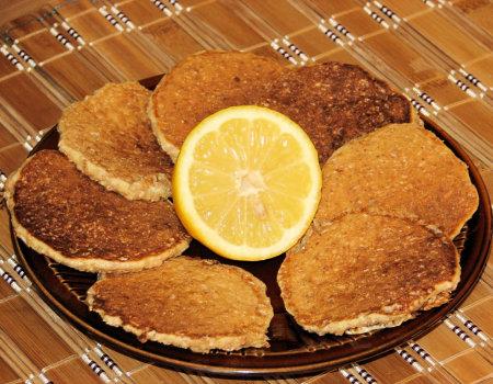 Otrębowe placki z nutką cytryny