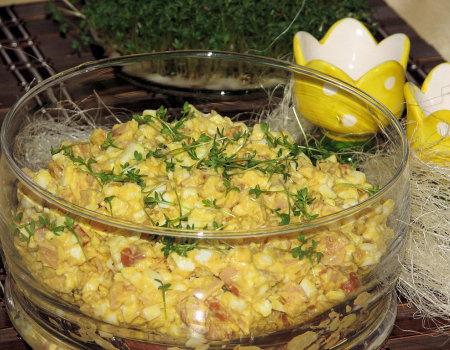 Sałatka jajeczna z chrzanem na Wielkanoc