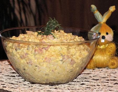 Sałatka jajeczna z kapustą pekińską