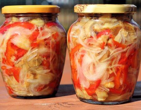 Sałatka z grzybów i papryki