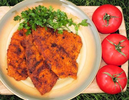 Sola w pomidorowej panierce