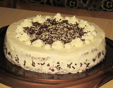 Tort z masą toffi i serkiem mascarpone