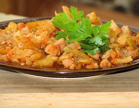 Wakacyjne danie z fasolką szparagową