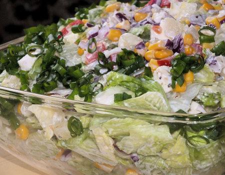 Wyśmienita sałatka do potraw z grilla