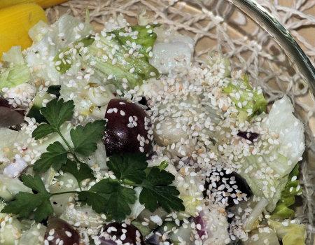 Zielona sałata z mozzarellą na słodko