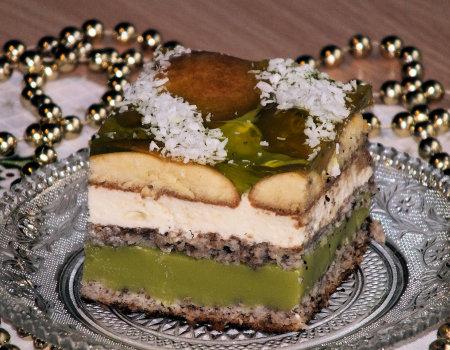 Zielone ciasto na Sylwestra