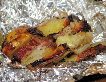 Ziemniaczane szaszłyki z grilla