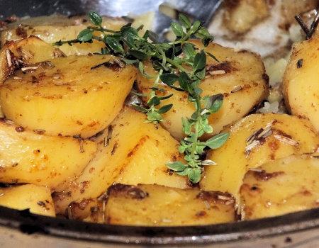 Ziemniaki pieczone na rumiano