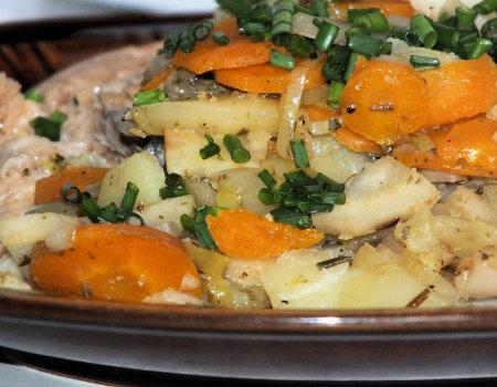 Ziemniaki zapiekane z kalafiorem do piątkowej ryby