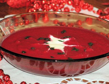 Zupa krem z czerwonych buraków