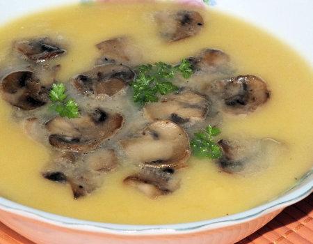 Zupa krem z dyni z pieczarkami