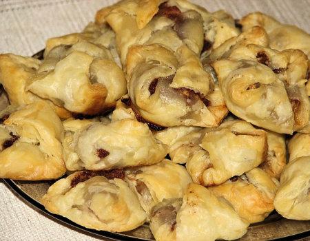 Ciasteczka francuskie z jabłkami w cynamonie