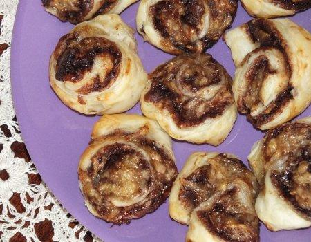 Francuskie ciasteczka z Nutellą i bananem