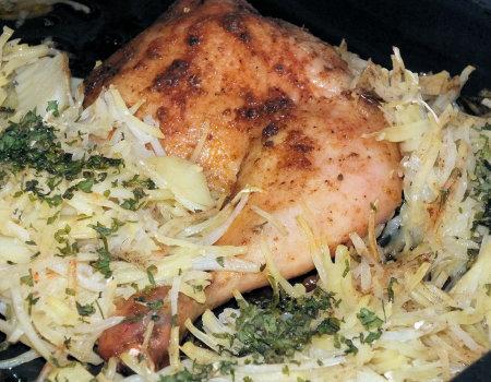 Kurczak pieczony z ziemniakami - nowy pomysł - lepszy smak