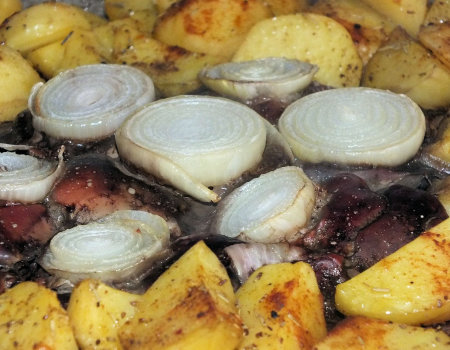 Ziemniaki i wątróbka z piekarnika