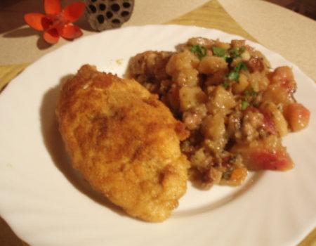 Faszerowany filet z kurczaka z ziołami