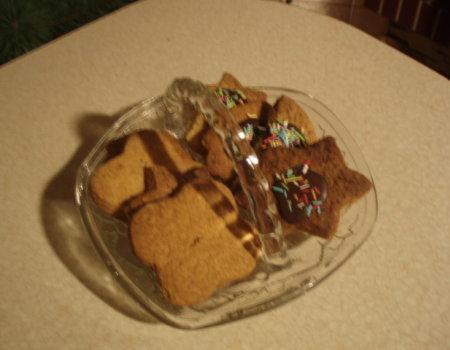 Orzechowe ciastka z polewą czekoladową