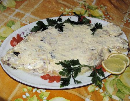 Bożonarodzeniowy karp w majonezie