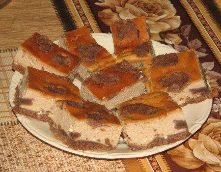 Czekoladowy sernik na kakaowym spodzie
