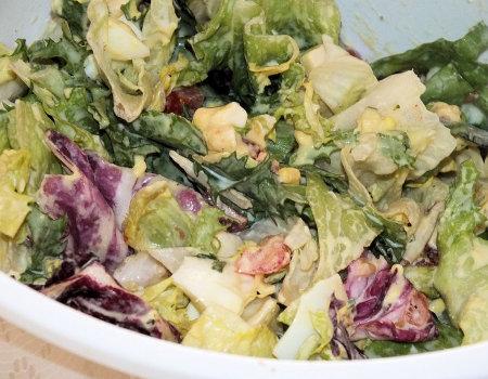Sałatka z kolorowych sałat i mozzarelli