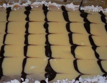 Sernik z czekoladą na biszkopcie