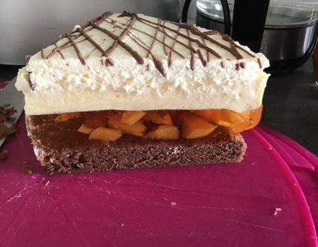 Ciasto brzoskwinia-marcuja 2