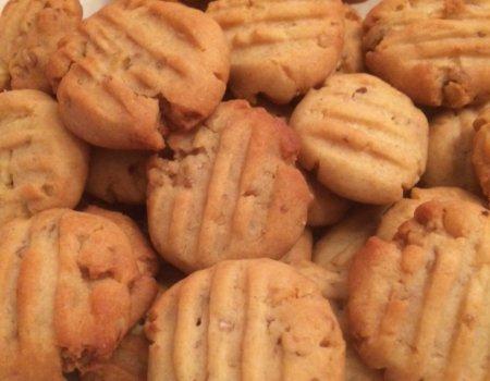 Ciasteczka miodowe z orzechami włoskimi