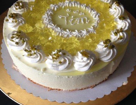 Lekki tort cytrynowy