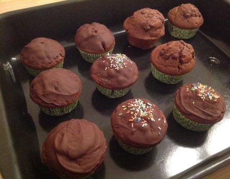 Muffinki czekoladowe, puszyste