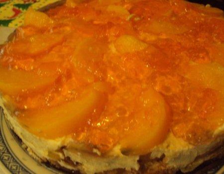 Ciasto brzoskwiniowe z delicjami
